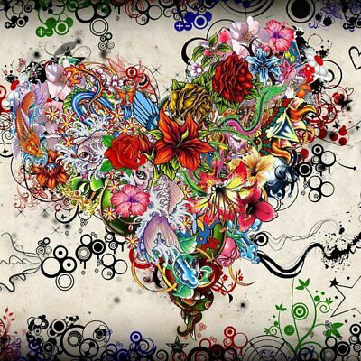 Colorful heart Full Drill 5D Diamond Painting Embroidery Cross Stitch Decor %N