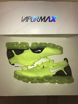 Nike Air Vapormax Flyknit 2 Volt Size 10 942842-700 No Lid On Box Green Yellow