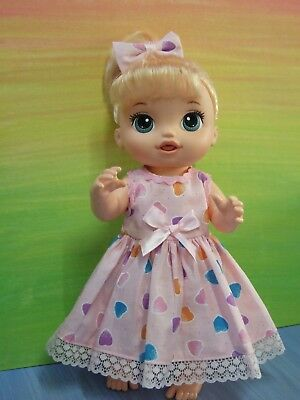 "Dolls clothes for 13"" BABY ALIVE / MY MOMMY DOLL~Dress~Headband"