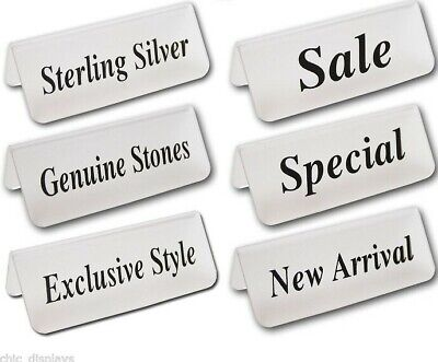 """Acrylic """"EXCLUSIVE STYLE"""" Sign store """"SALE"""" sign """"STERLING SILVER"""" Message Sign"""