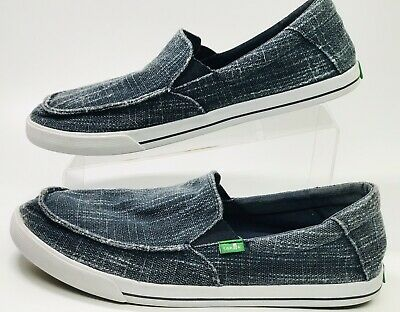 6c24030a65d Men s Sanuk Sideline Coated Slip On Shoe Navy Blue Size 11 Sidewalk Surf  1014720