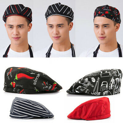Comfortable Men Women Chef Hat Kitchen Cook Catering Baker Duckbill Beret Cap
