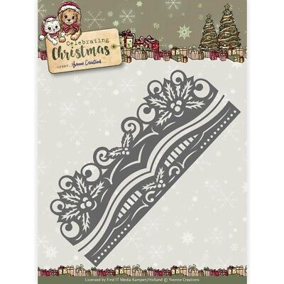 Find It Yvonne Creations Celebrating Christmas Die - Holly Border