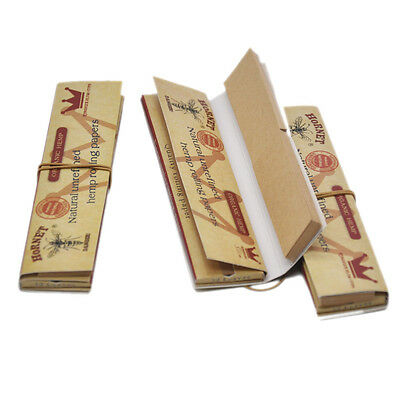 5 x HORNET King Size Brown Unrefined Rolling Papers with Filter Tips Paper 110MM