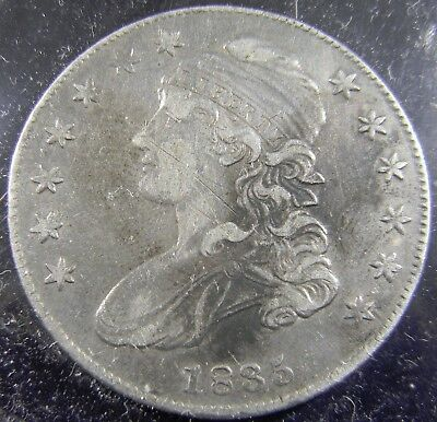 1835 Capped Bust Half Dollar 50C, Overton  107 R1, Xf With Scratches On Face