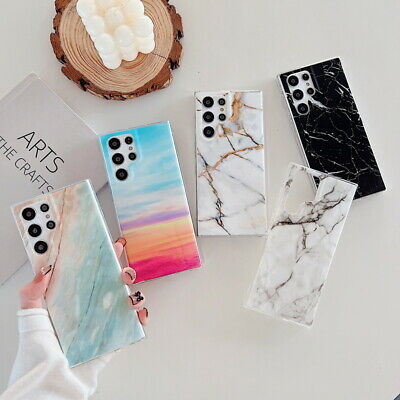 For Samsung Galaxy S10+ S9 S8/7 Note 9/8 Marble Pattern Soft Silicone Cover Case