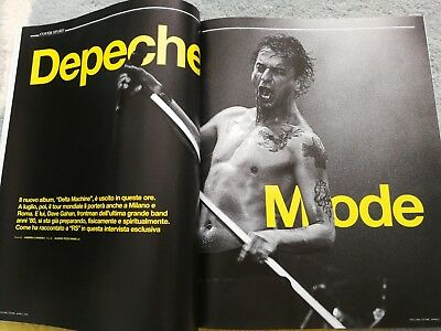 Depeche Mode Dave Gahan Cover Rolling Stone Music Mag Italy 2013 Rare
