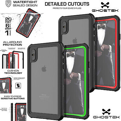 newest 6e983 3c621 GHOSTEK NAUTICAL MILITARY Grade Waterproof Case for with iPhone X ...