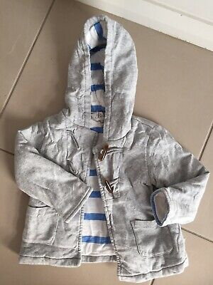 BEBE By Minihaha Padded Grey Baby Jacket Size 1