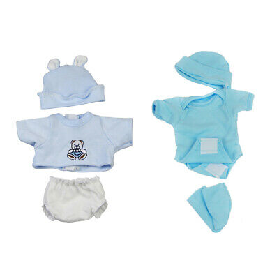 Cute Baby Doll Clothes Set for 10-11inch Reborn Girl/Boy Dolls Casual Outfit