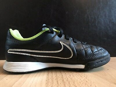 release date: 49dc2 6f380 NIKE TIEMPO FOOTBALL Boots Astro Turf Size 12 Uk Kids Black