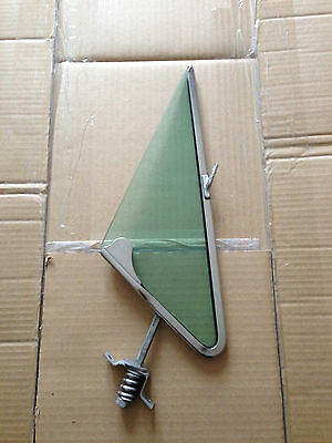 PIVOT FRAME VENT WINDOW RH + glass tempered green   - Ford Mustang 1965 66