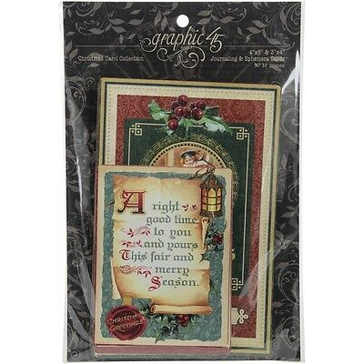 G45 - A Chrismas Carol - Ephemera Cards 32/Pkg