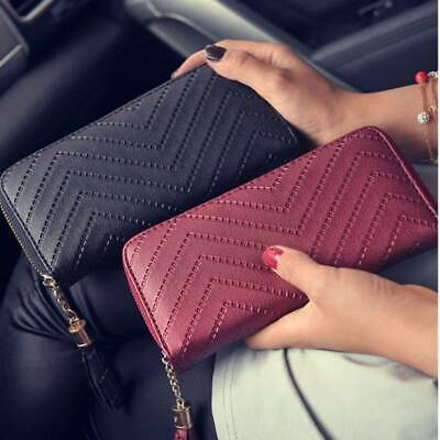Women Ladies Leather Wallet Long Zip Purse Case Card Holder Clutch Phone Handbag