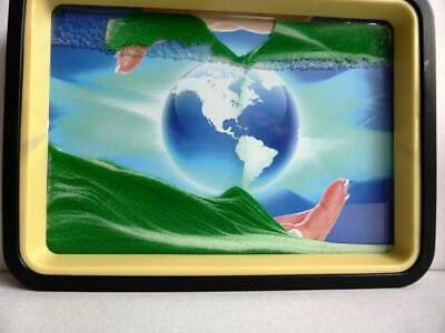 Green Moving Sand Picture  Earth Mirror Relaxing Desk Home Decor Gift Birthday.
