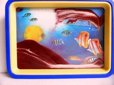 Brown Moving Sand Picture  Reef Mirror Relaxing Desk Home Decor Gift Birthday.