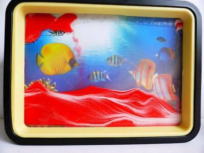 Red Moving Sand Picture  Reef Mirror Relaxing Desk Home Decor Gift Birthday.