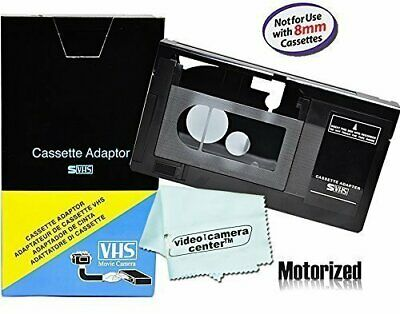VHS C Cassette Adapter For JVC Panasonic Camcorder Video Motorized VCR Battery