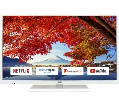 "JVC LT-32C691 32"" Smart LED TV - White - Currys"