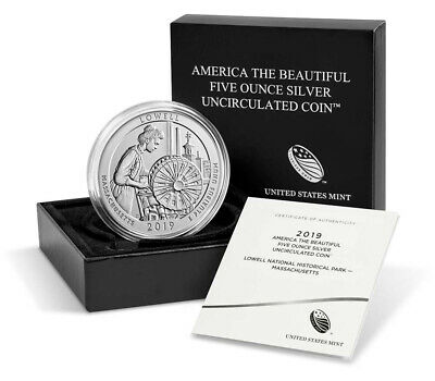 2019 P Lowell NP 5 oz ATB Silver America Beautiful Specimen OGP SKU56835