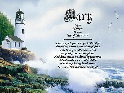 """Lighthouse2"" Name Meaning Prints Personalized (Inspirational, Nautical, Ocean)"
