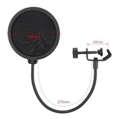 Double Layer Microphone Studio Mic Wind Screen Pop Filter Mask Shied Flexible