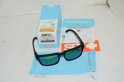 d1415c690ff2 Spy Helm Matte Black Happy Bronze Polarized Lens Green Spectra Sunglasses  NICE!