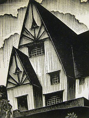Lynd Ward 1930 RICH SLAVE TRADER BUYS a BIG HOUSE Art Deco Print Matted