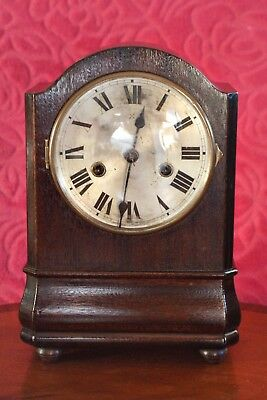 Antique German 'HAC' Mahogany Case 8-Day Striking Mantel Clock