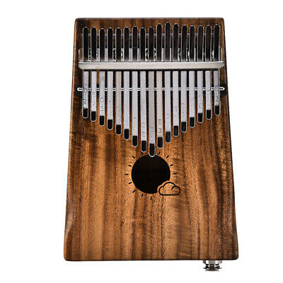 17 Keys EQ Kalimba Solid Acacia Thumb Piano Link Speaker Electric Pickup L0C0