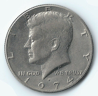 1974 John F. Kennedy Half Dollar Circulated US Coin Fifty (50) Cents Ungraded