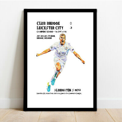 Leicester City Champions League 2016 - Albrighton Framed Print.