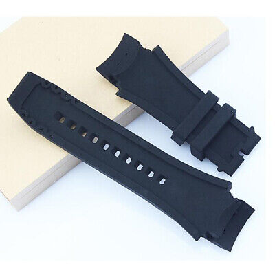 Soft Silicone Rubber Black Sport Diver Watch Band Strap For INVICTA Waterproof