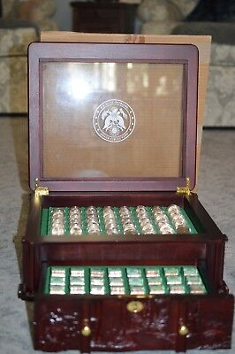 2010-2019 Unc. America The Beautiful National Park Quarters-Wood Display Box