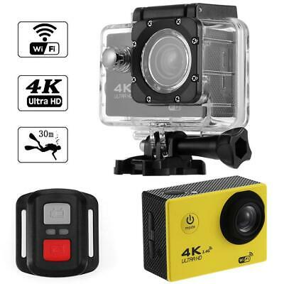 4K WIFI Action Camera 1080P HD 16MP Helmet 30m Waterproof DV with Remote Control