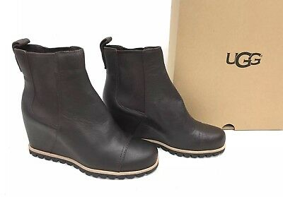 3ee138d378a UGG AUSTRALIA WOMENS Pax Chelsea Wedge Boots Chipmunk Leather ...