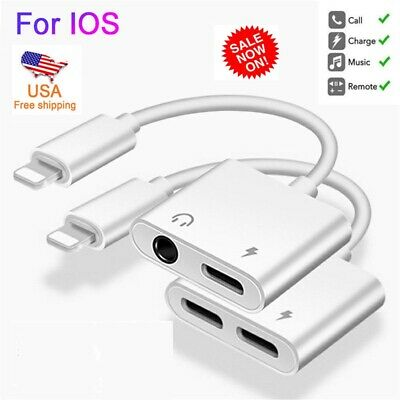 3.5mm Aux Adapter Lightning Earphone For iPhone 7 8 Plus X Audio Jack Cable USB