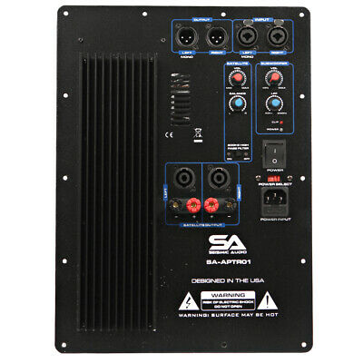 2 Channel Plate Amplifier for PA/DJ Subwoofer Cabinets with 2 Satellite Outputs