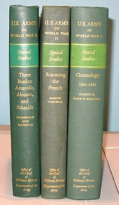 US ARMY IN World War II:Special Studies 3 Books Office Chief of Military  History
