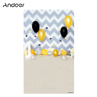 Andoer 1.5 * 0.9m/5 * 3ft Birthday Party Photography Background Balloon J5H6