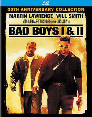 Bad Boys 1 & 2 Blu-ray Bluray . No Digital Code . 20th Year Anniversary Edition.