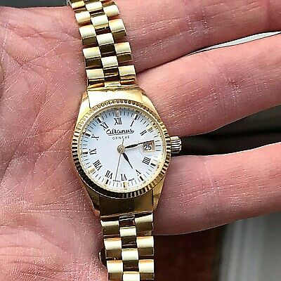 Superb Altanus Swiss 18ct Gold Datejust Ladies Watch Gross Weight 40 Grammes