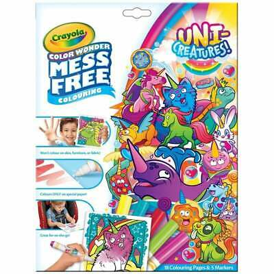 Crayola Uni-Creatures Color Wonder Mess Free Magic Colouring Book Set inc Pens