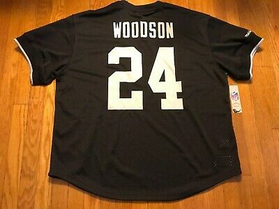New MITCHELL & NESS Oakland Raiders Charles Woodson Jersey Mens Size 3Xl