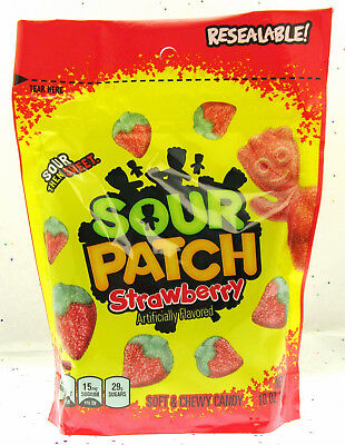 Sour Patch Strawberry ~ Sour Then Sweet Candy ~ Resealable Bag 10 oz bag