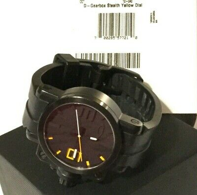 8acd2d7a899 Oakley Men s Swiss Made STEALTH STAINLESS GEARBOX Watch! Black Dial - Very  Rare!