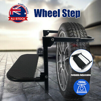 Adjustable 4WD 4X4 Car Wheel Step Tyre Ladder Foldable Lift Stair Van Truck A