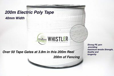 2 X Electric White High Quality 40mm Fencing Tape 200 Metres