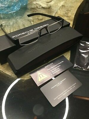 bb74d9b88cf Porsche Design Reading Glasses P8801 Black +1.00 Slim Soft Case - BRAND NEW