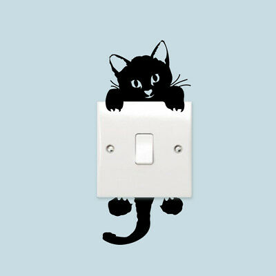 3 Cute Cat DIY Switch Sticker Wall Quote Wall Stickers Vinyl Mural Decor Decals